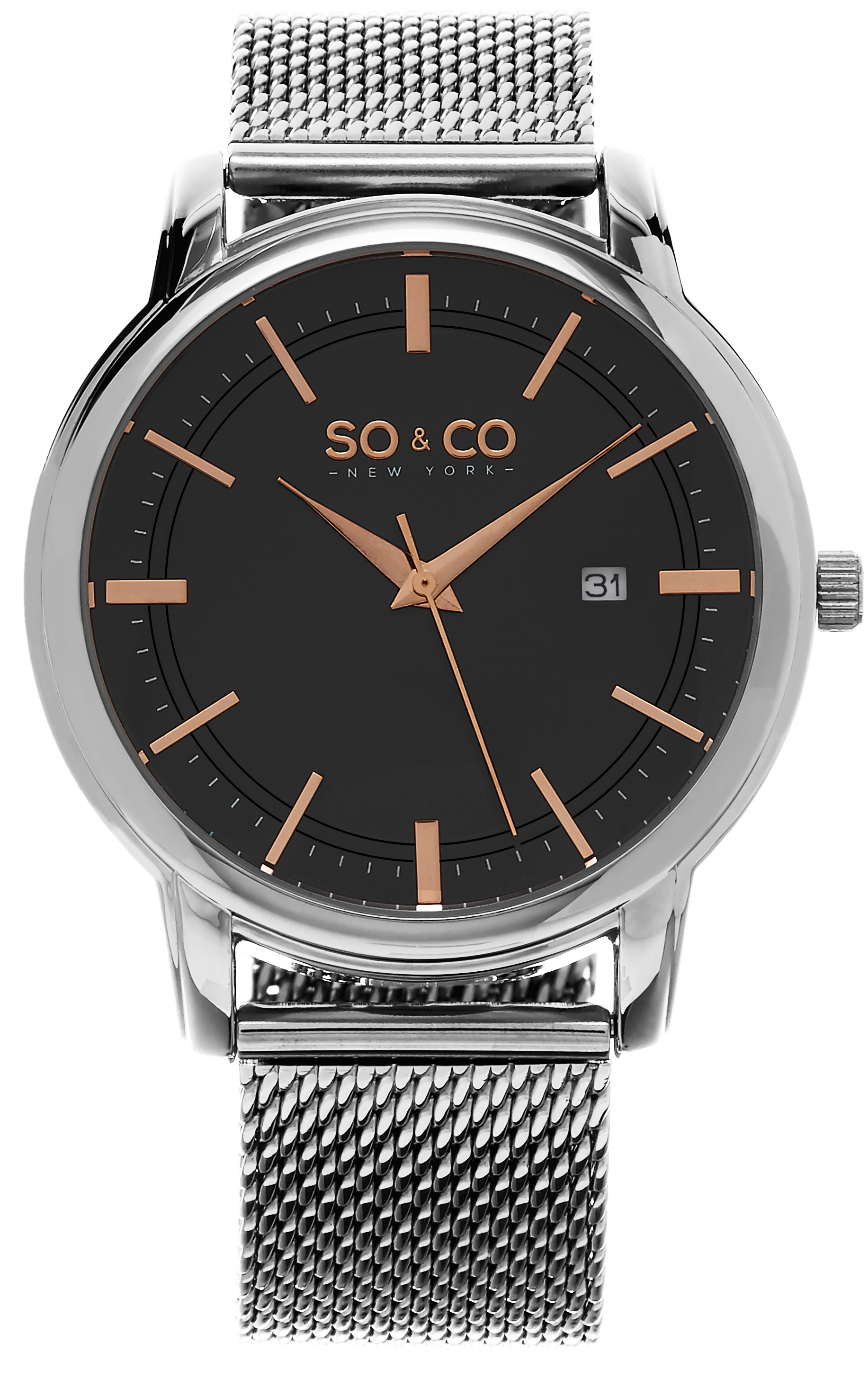 So & Co New York Madison Herreklokke 5207.3 Grå/Stål Ø41 mm - So & Co New York