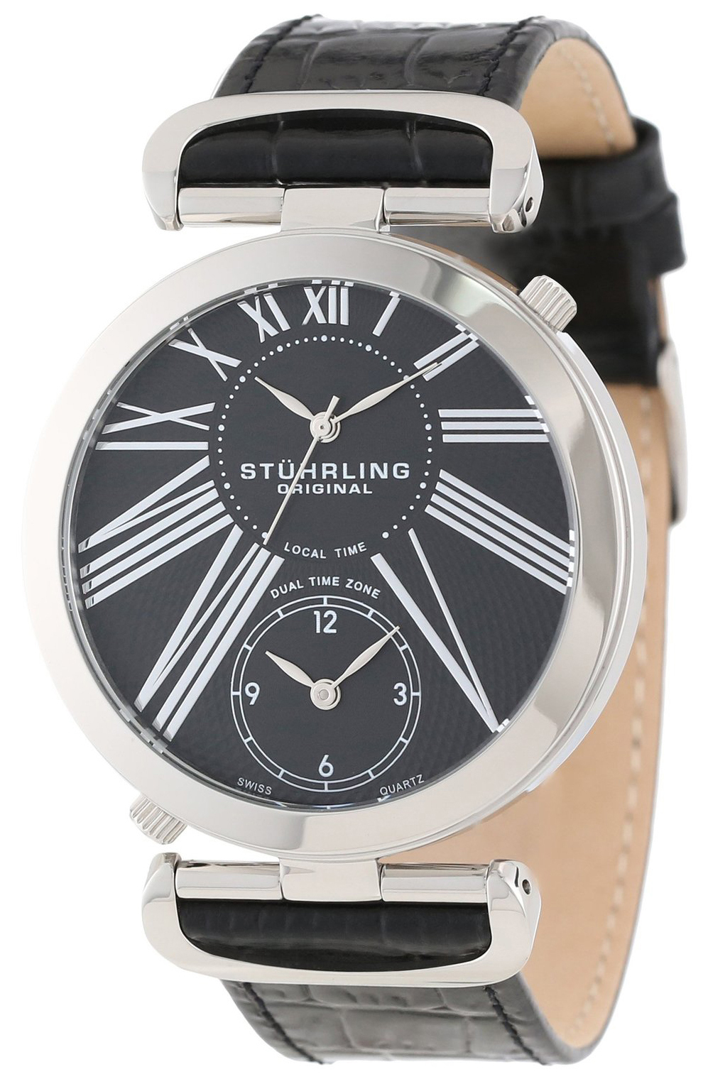 Stührling Original Herreklokke 377.33151 Sort/Lær Ø43 mm - Stührling Original