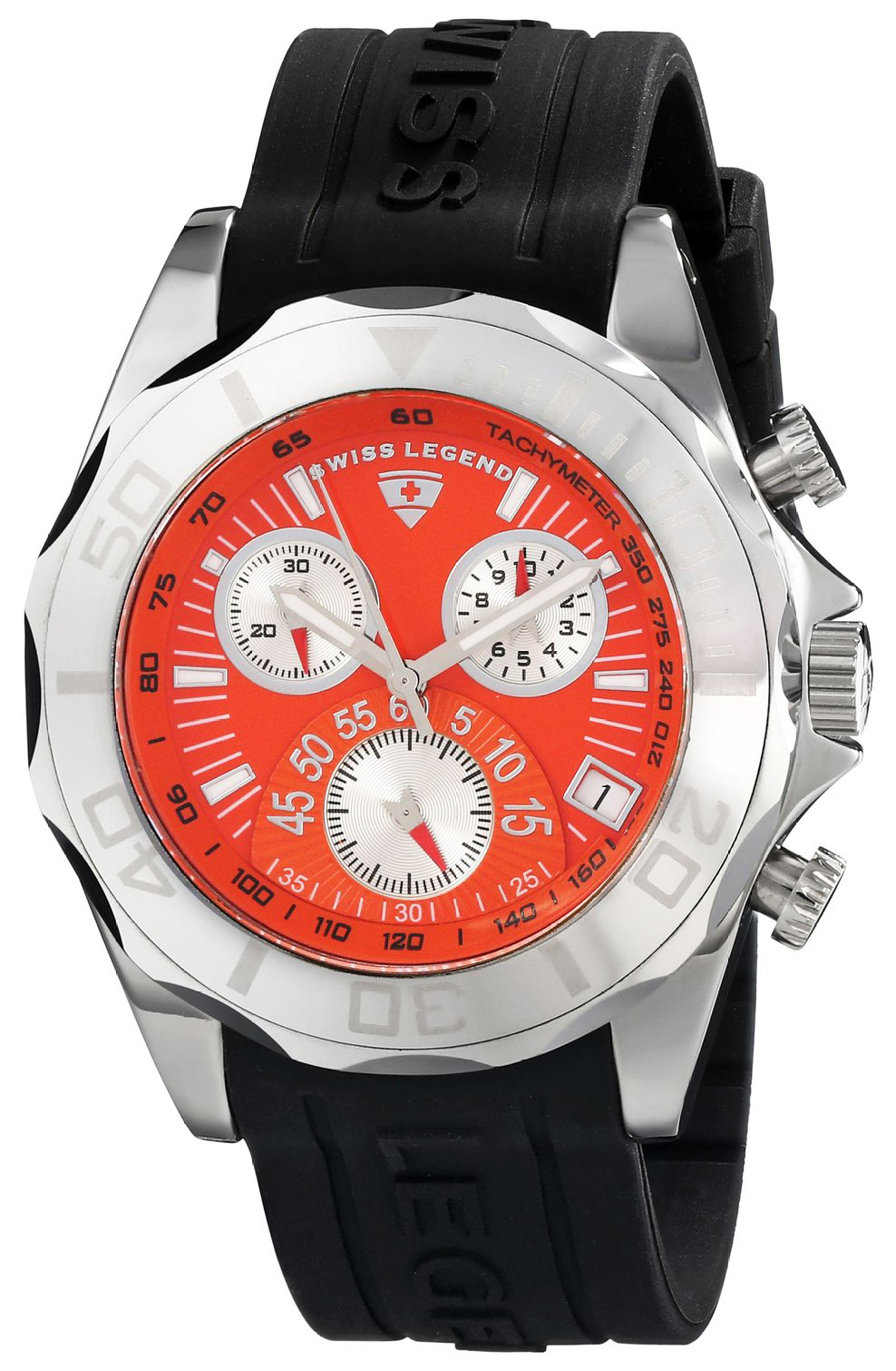 Swiss Legend 99999 Herreklokke SL-18010-06 Orange/Gummi Ø45 mm - Swiss Legend