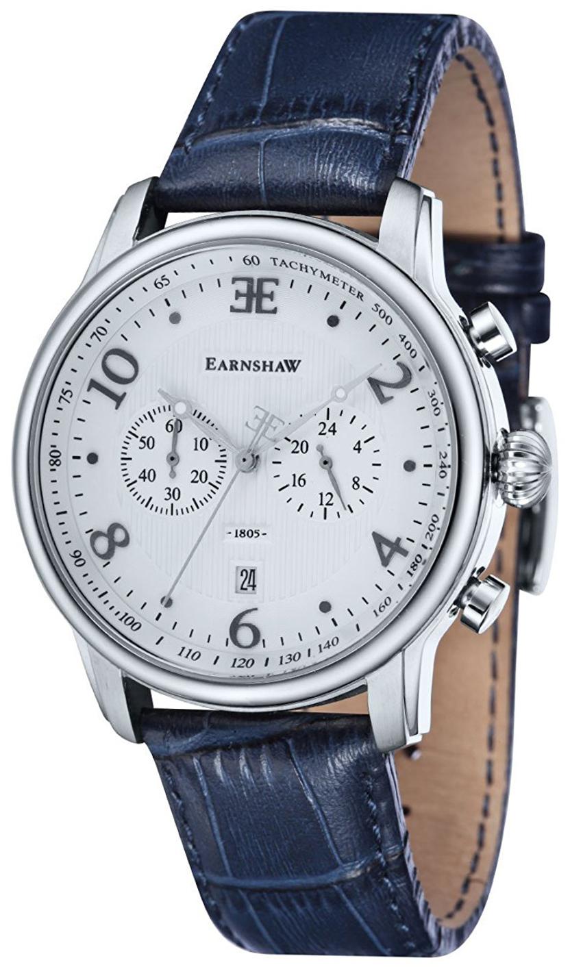 Thomas Earnshaw Longitude Herreklokke ES-8058-01 Sølvfarget/Lær - Thomas Earnshaw
