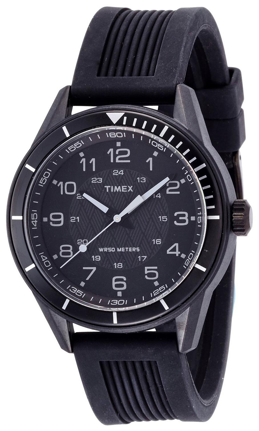 Timex Classic Herreklokke T2P383 Sort/Gummi Ø42 mm - Timex