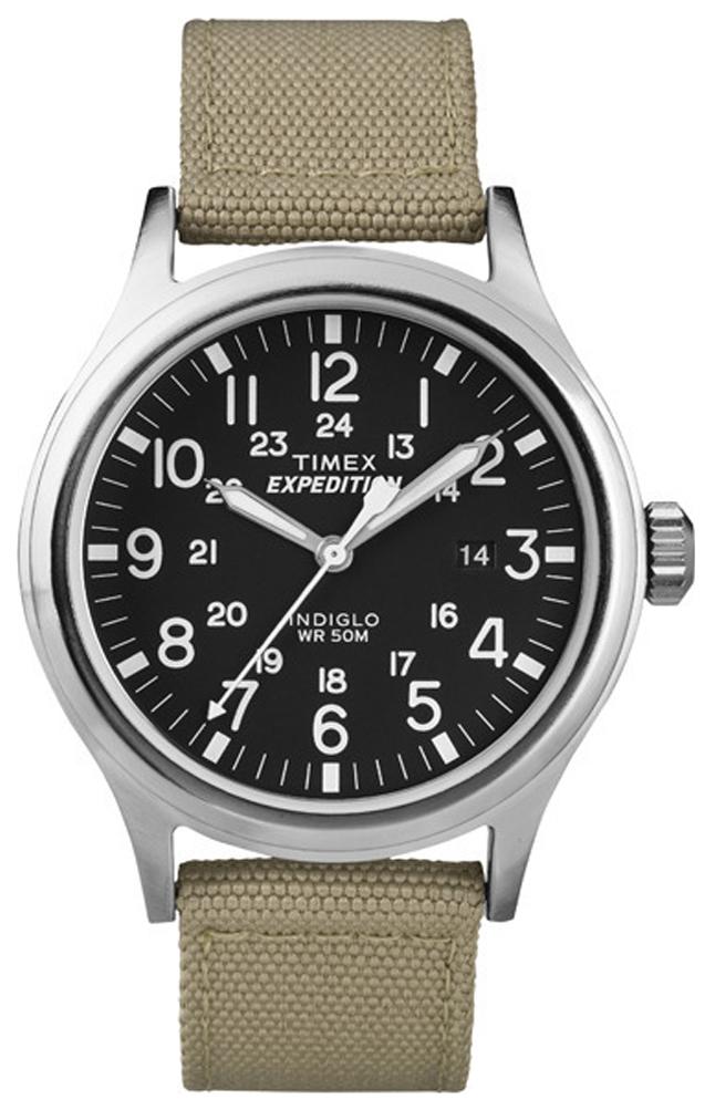 Timex Expedition Herreklokke T49962 Sort/Tekstil Ø40 mm - Timex