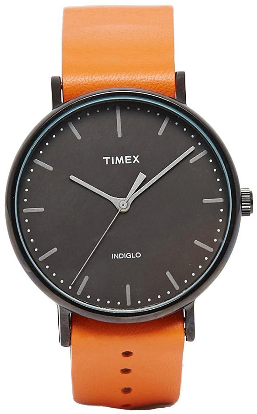 Timex Weekender Herreklokke TW2P91400 Sort/Lær Ø41 mm - Timex