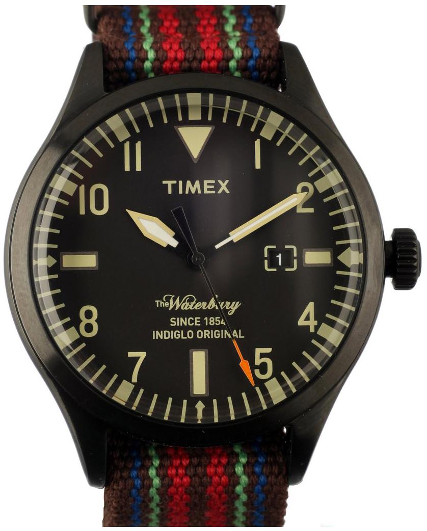 Timex 99999 Herreklokke TW2U00700LG Sort/Tekstil Ø42 mm - Timex