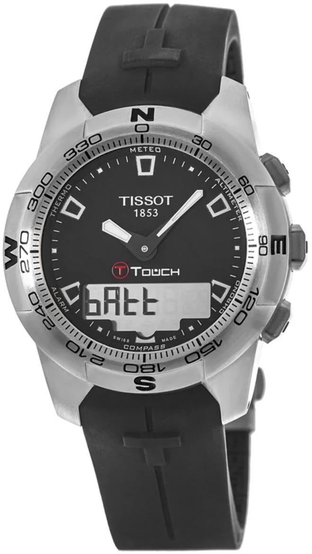 Tissot Herreklokke T047.420.17.051.00 Sort/Gummi Ø43 mm - Tissot