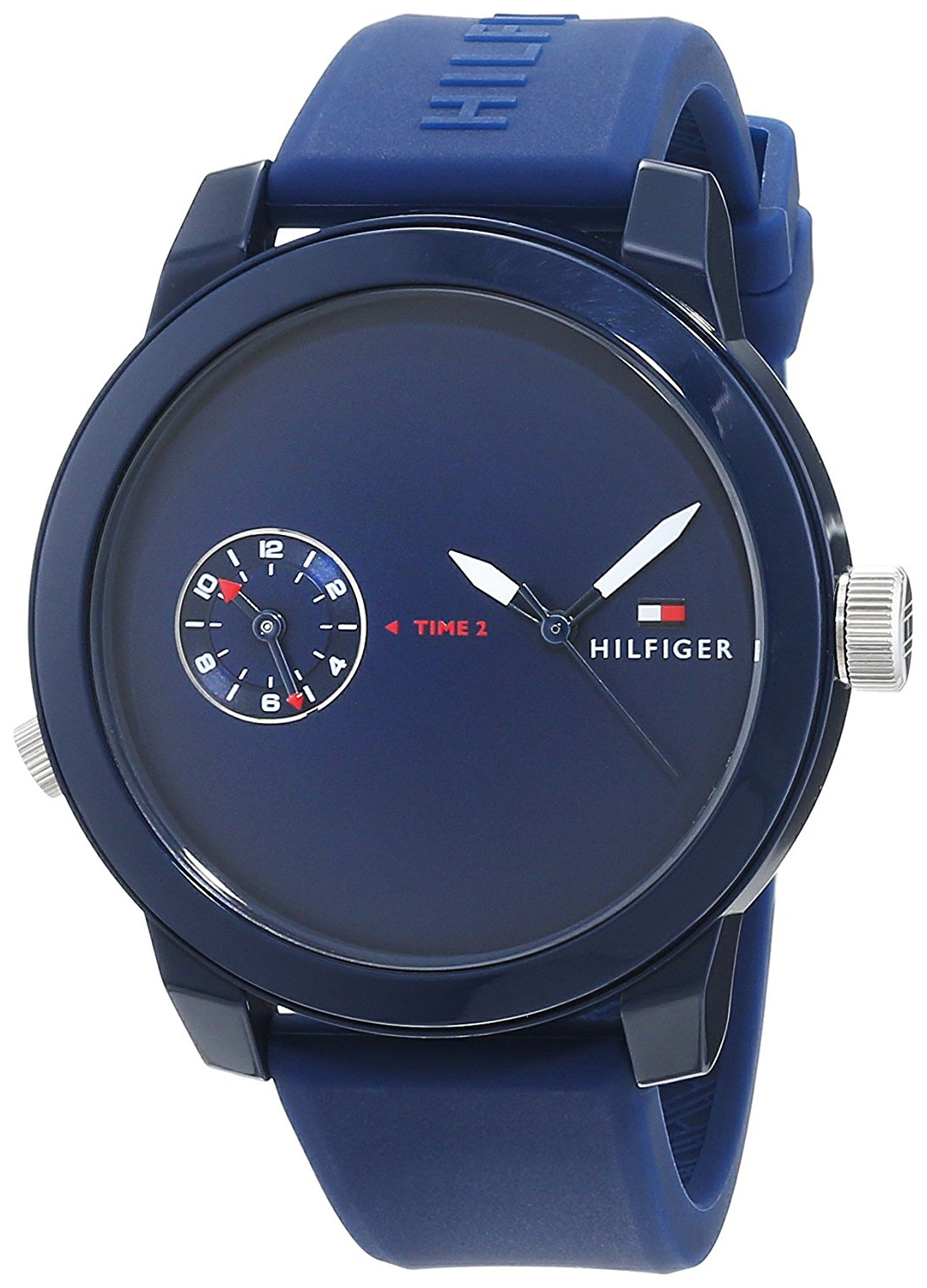 Tommy Hilfiger Dress Herreklokke 1791325 Blå/Gummi Ø44 mm - Tommy Hilfiger