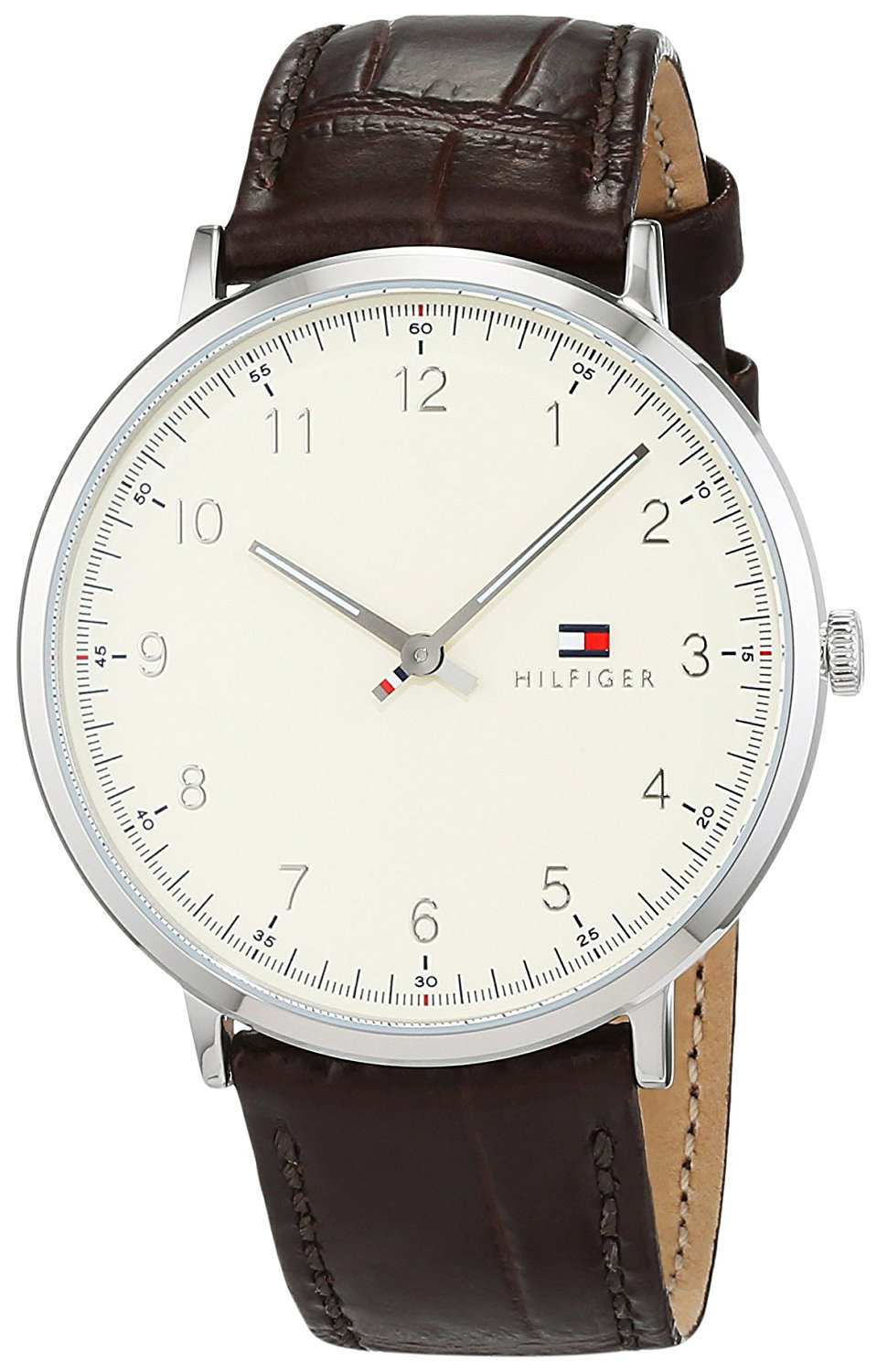 Tommy Hilfiger Dress Herreklokke 1791338 Antikkhvit/Lær Ø40 mm - Tommy Hilfiger