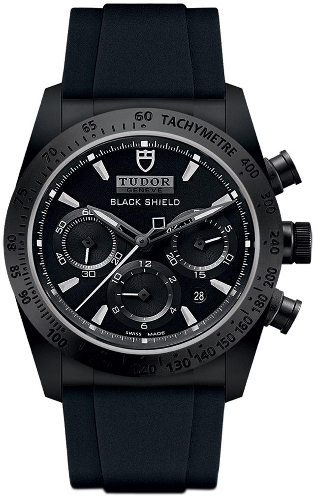 Tudor Fastrider Black Shield Herreklokke 42000cn-0018 Sort/Gummi Ø42 - Tudor