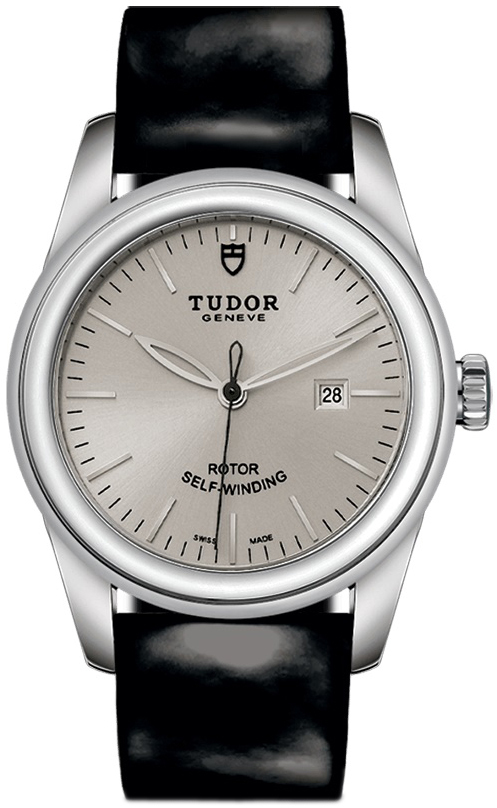 Tudor Glamour Date Dameklokke 53000-0031 Sølvfarget/Lær Ø31 mm - Tudor