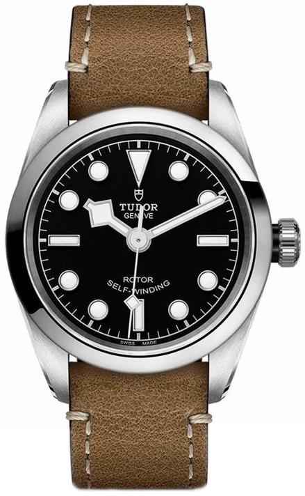 Tudor Black Bay Dameklokke 79580-0002 Sort/Lær Ø32 mm - Tudor