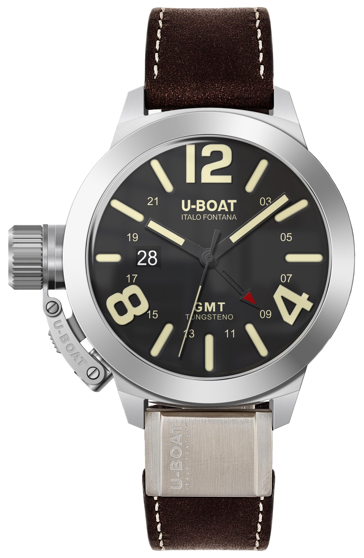 U-Boat Classico Herreklokke 8050 Sort/Lær Ø45 mm - U-Boat