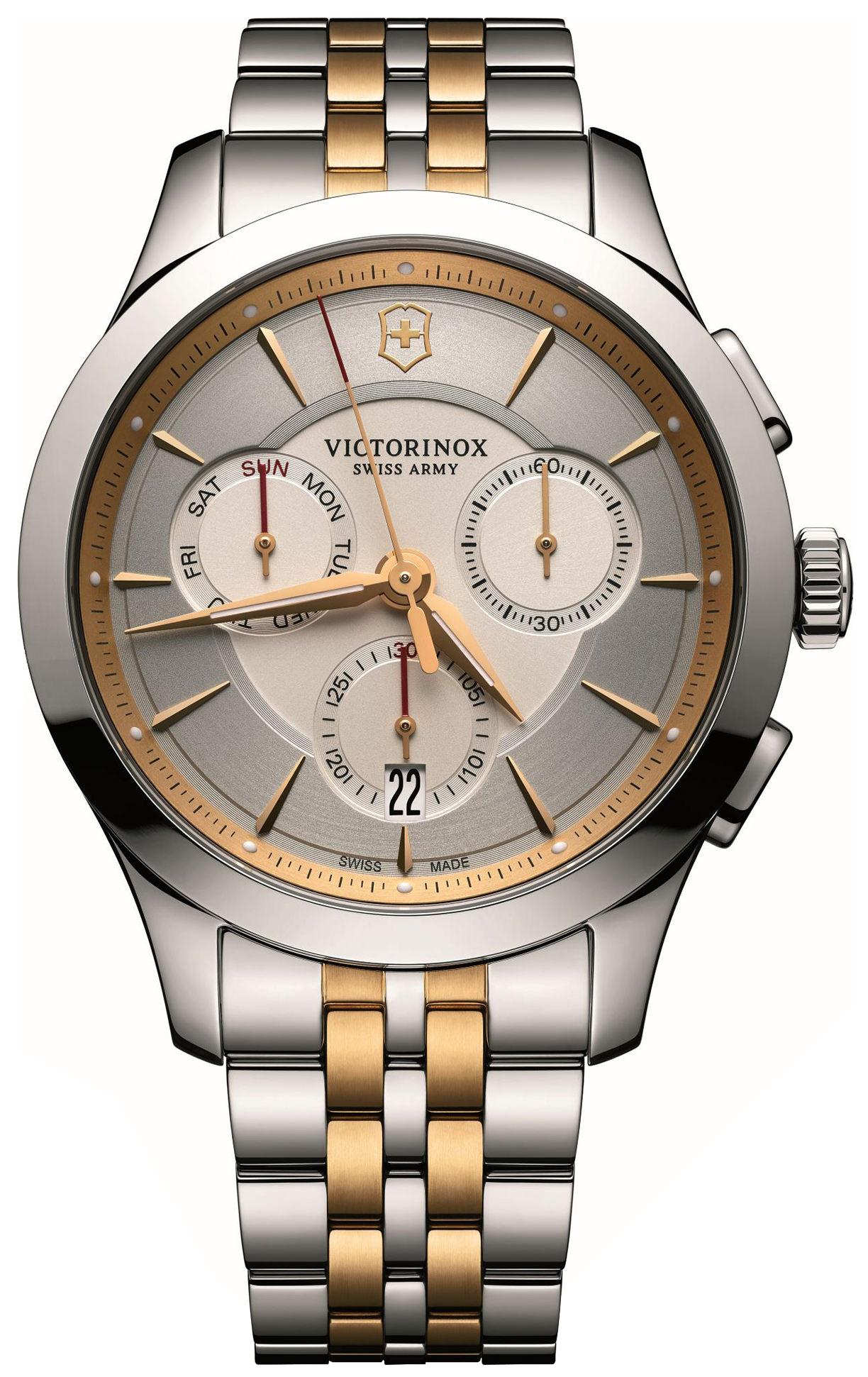 Victorinox Alliance Herreklokke 241747 Sølvfarget/Gulltonet stål - Victorinox