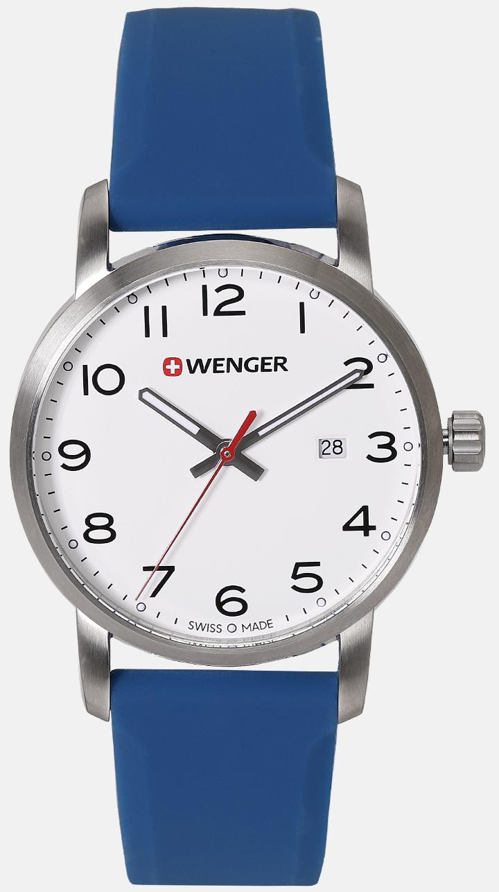 Wenger 99999 Herreklokke 01.1641.107 Sort/Gummi Ø42 mm - Wenger