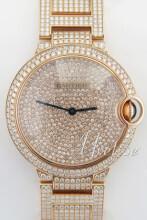 Cartier Ballon Blue Diamantsmykket/18 karat rosé gull Ø36.6 mm