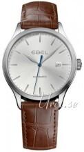 Ebel Classic 100 Sølvfarget/Lær Ø40 mm