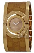 Gucci Twirl Brun/Gulltonet stål Ø23.5 mm