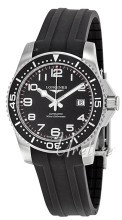 Longines HydroConquest Sort/Gummi Ø41 mm