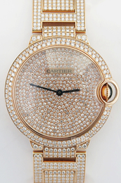 Cartier Ballon Blue Diamantsmykket/18 karat rosé gull Ø36.6 mm HPI00489