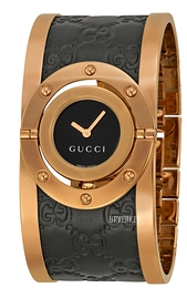 Gucci Twirl Sort/Rose-gulltonet stål Ø23.5 mm YA112438