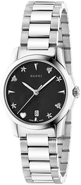 Gucci G-Timeless Sort/Stål Ø27 mm YA126573
