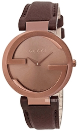 Gucci Interlocking Brun/Lær Ø37 mm YA133309