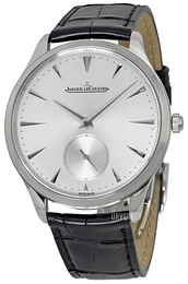 Jaeger LeCoultre Master Ultra Thin Small Second Stainless Steel Sølvfarget/Lær Ø38.5 mm 1278420