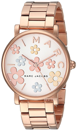 Marc by Marc Jacobs Dress Hvit/Rose-gulltonet stål Ø36 mm MJ3580