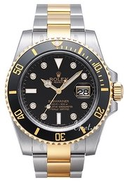 Rolex Submariner Sort/18 karat gult gull Ø40 mm 116613LN DIA