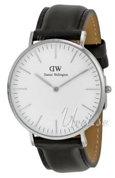 Daniel Wellington Classic Sheffield Antikk hvit/Lær Ø40 mm