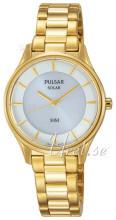 Pulsar Dress Hvit/Gulltonet stål Ø28 mm