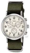 Timex Weekender Beige/Stål Ø40 mm